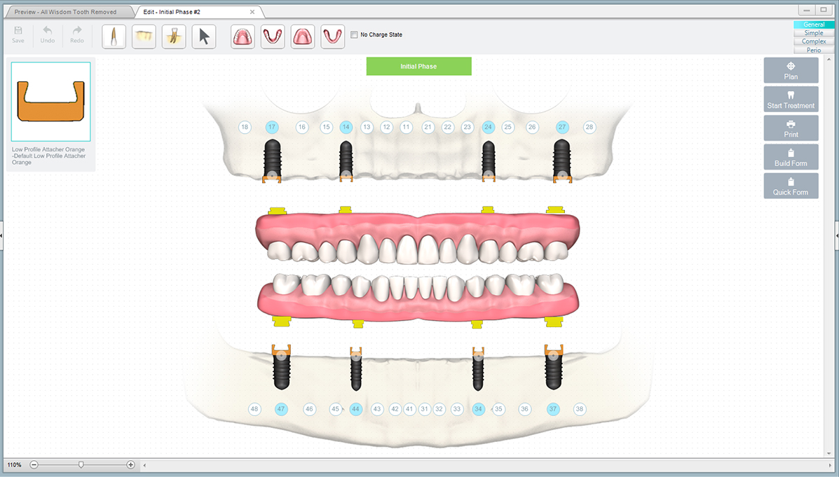 Dentures With Clips Treatment Dental Notes Software Screenshot
