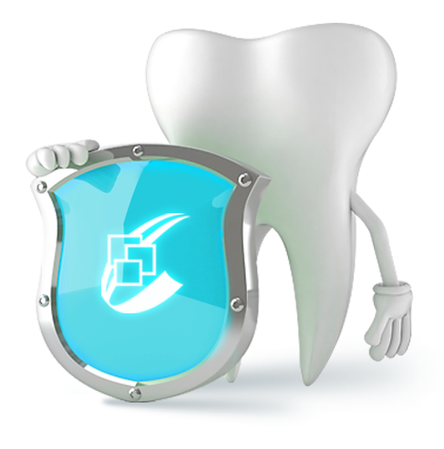 tooth holding dental software logo
