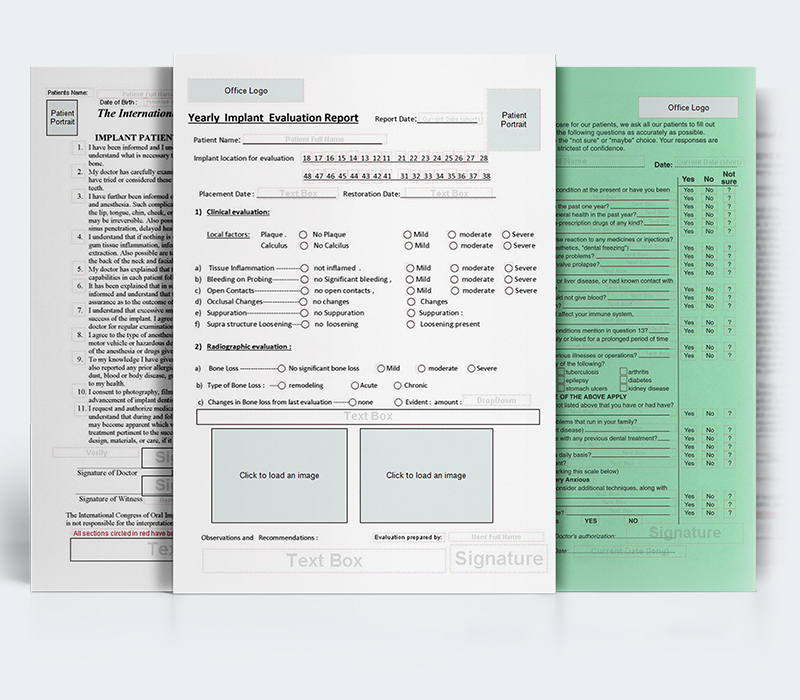 dental forms software screenshots