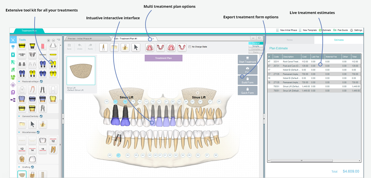 Dental treatment software dental forms software screenshots pronofoot35fo Gallery